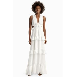 🌸 NWT A.L.C. Brie Tiered Maxi Dress in Whi